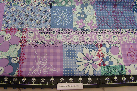 RJR Stitchers Garden Pink Blue