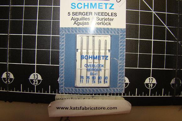 Schmetz 5 Serger Needles Assorted Sizes
