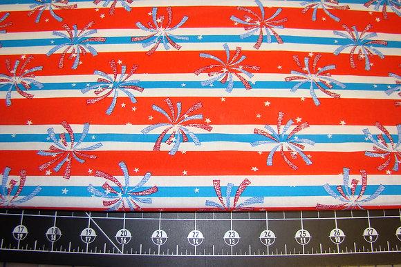Patriotic Fireworks Stripe RWB
