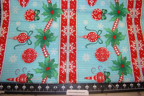 RJR HLDY Christmas Wishes Border Blue