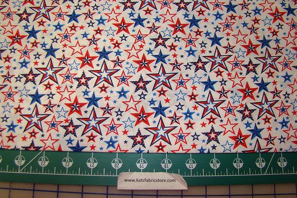 Patriotic Stars RWB on White