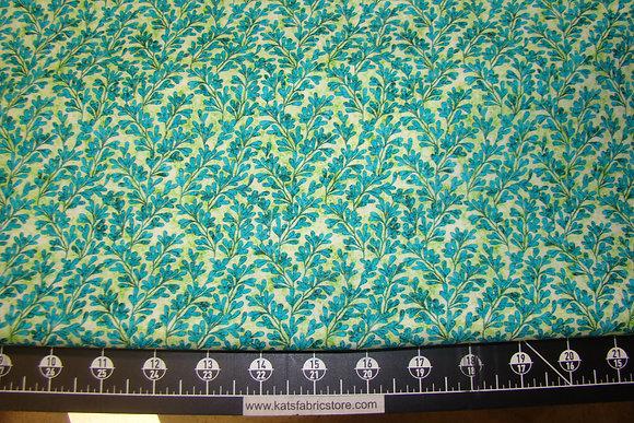 QT Kashmir Leaves Turquoise