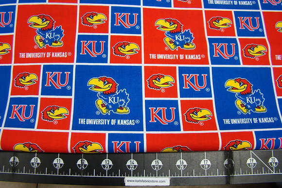 NCAA-Kansas University Patches Cotton # KAN-020