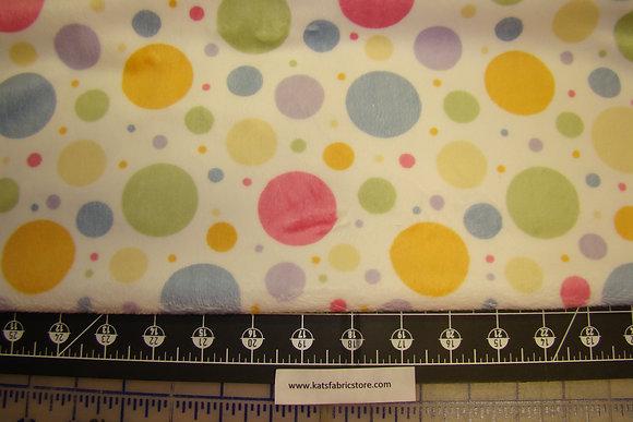 Snuggle Print Minky Multi Color Polka Dots