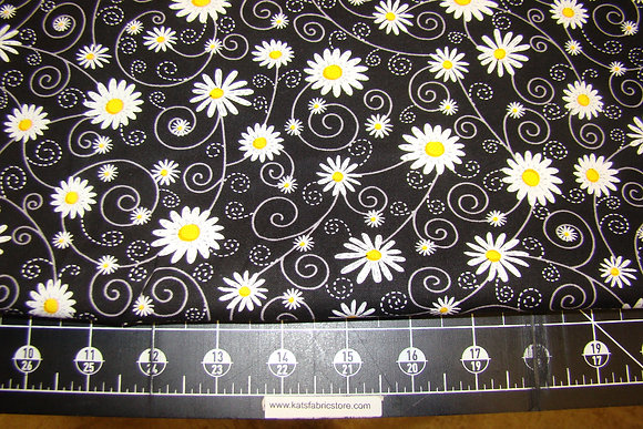 TT Gail Daisy Scroll Black