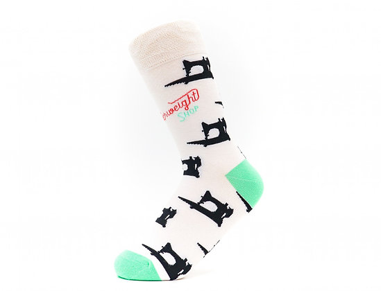 The Featherweight Shop Socks White