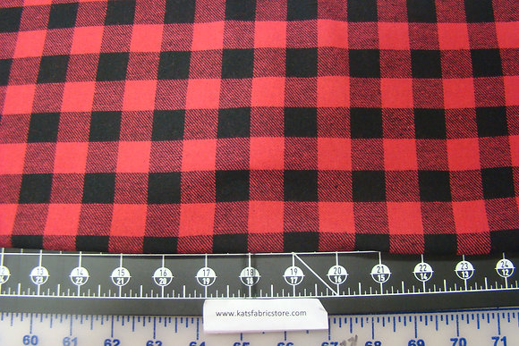 Flannel 3/4th Inch Check Red