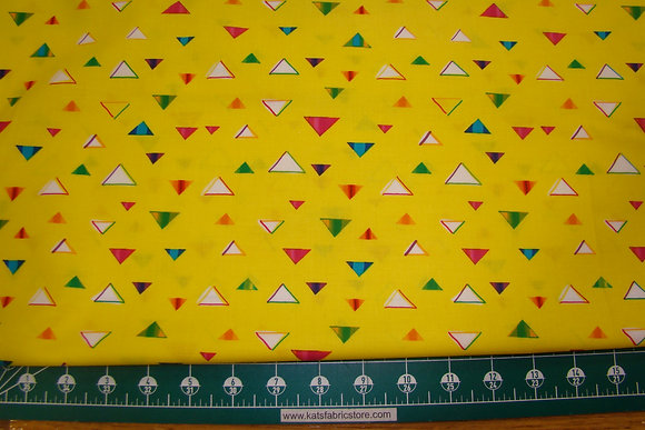 QT Party Animals Triangles Yellow