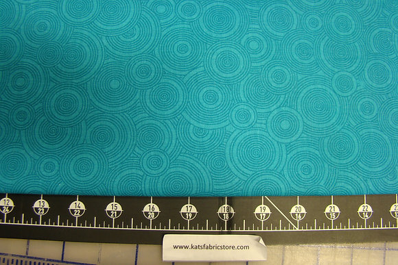 """108"""" Circles Turquoise A12"""
