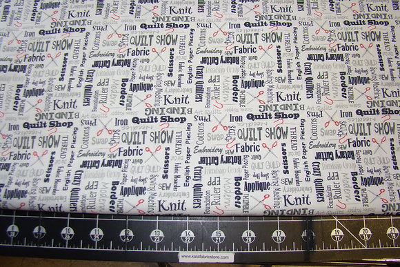 QT It's a Ship Hop Quilter's Lingo Charcoal