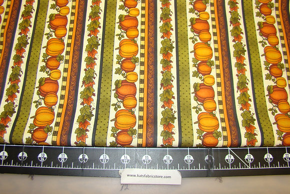 BX HVST Pumpkin Stripe Cream Multi