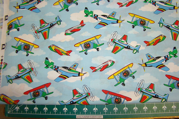 Kids Time Airplanes Blue