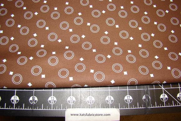 Fabric Arts Mocha Pop 254 Blue on Brown