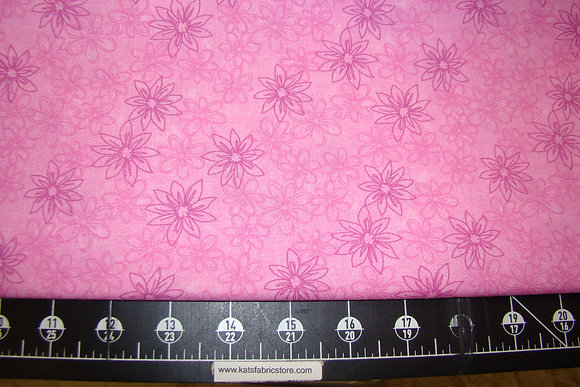 """108"""" Daisy Floral Pink"""