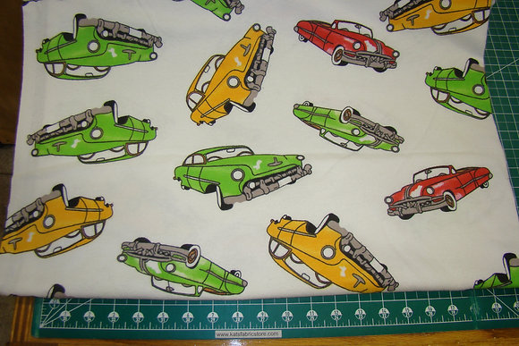 Flannel Auto Cars on White