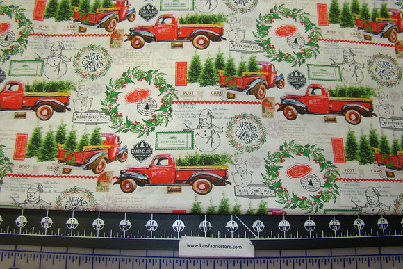 Deck the Halls Red Truck Print