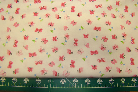 Flannel Mini Butterfly Pink