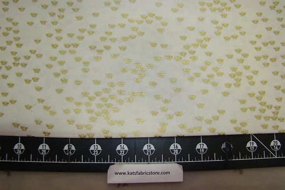 BX Butterflies Cream Gold Metallic