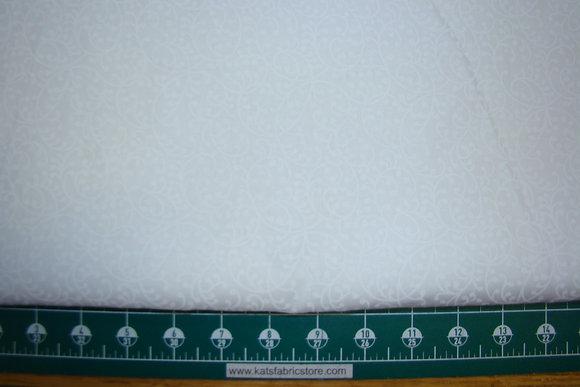 "108"" Freeway White on White Quilt Backing"