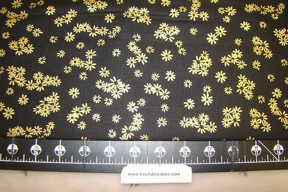 BX Flowers Black Gold Metallic