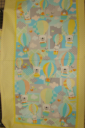 Benartex Flannel Breezy Baby Panel Sunshine