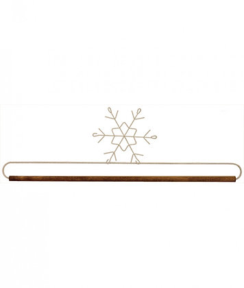 16in Snowflake Holder With Dowel Tex White # 27897