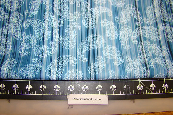Fabric Arts Paisley Blue