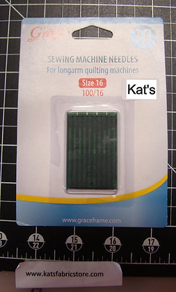 Grace Needles Size 16 Quilting Needles