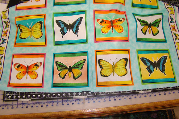 QT Fly Free Butterfly Panel