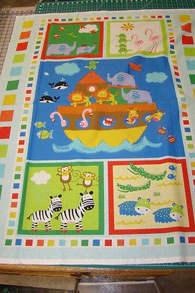 Baby Panel Noah's Ark Blue