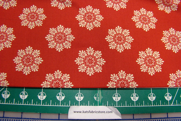 AD Agatha's Garden Cream on Red