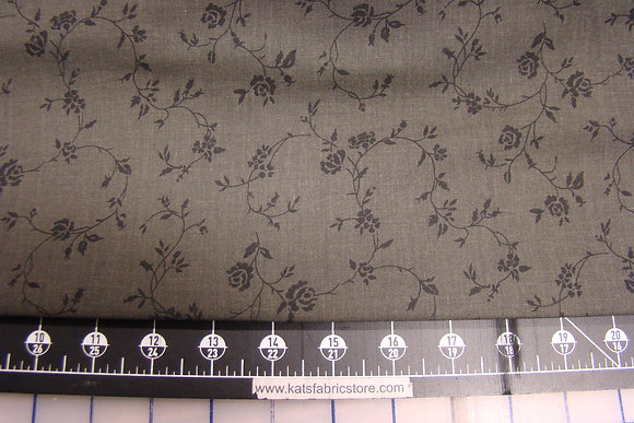 "108"" Floral Vine Black Backing"