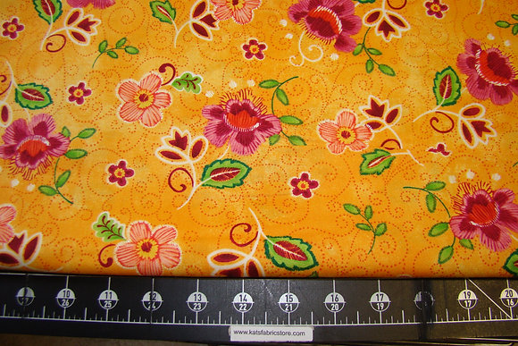 QT Olivia Tossed Flower Orange