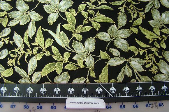 BX Field of Dreams Botanical Leaves Black
