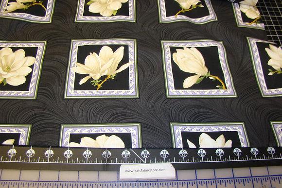 BX Accent on Magnolia Block Panel Cream Black