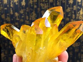 Pedra Natural Citrino Cluster Cristal Original $150