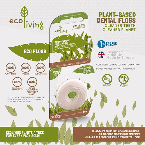 Eco Floss - Plant Based Vegan Dental Floss - Eco Living
