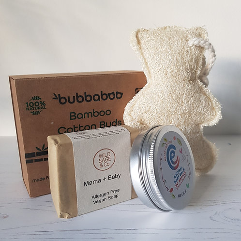 Parent and Baby Gift Set Croll and Denecke, Wild Sage and Co, Bubbaboo, Earth Conscious