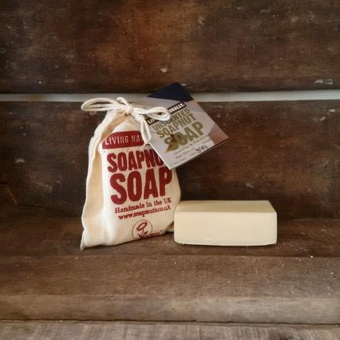 Unscented Castile Olive Oil Soapnut Soap 90g Living Naturally