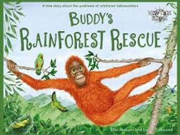 BudDys Rainforest Rescue story book by Ellie Jackson