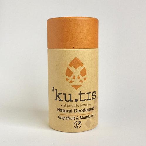 Kutis Skincare grapefruit and Mandarin Vegan  Natural Deodorant 55g