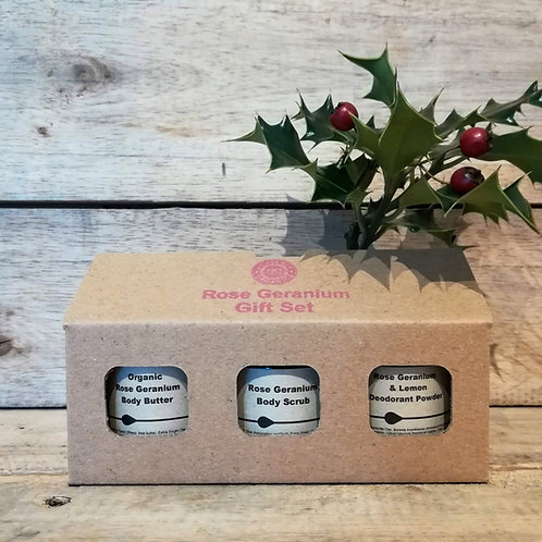 Heavenly Organics Rose Geranium Gift Set