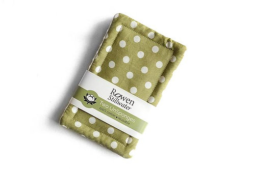 Rowen Stillwater Green Polka Dot 2 pk Unsponges