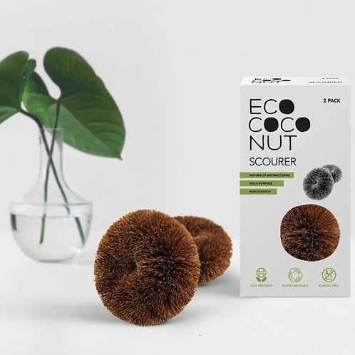 Eco Coconut twin pack scourers outside of box