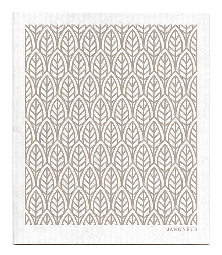 Grey Leaves Compostable Dishcloth - Jangneus