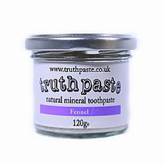 natural mineral toohpaste Truthpaste glass jar 120g fennel