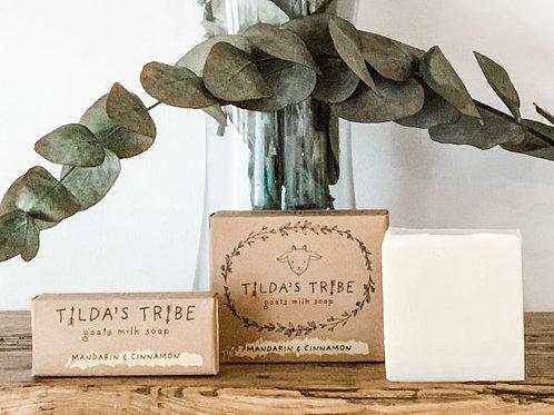 Mandarin & Cinnamon Natural Goats Milk Soap - Tilda's Tribe 100g
