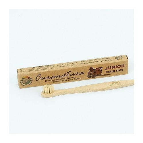Curanatura junior extra soft bamboo toothbrush with box