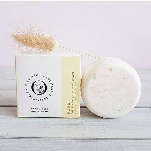 Pure - 2 in 1 Shampoo & Conditioner Bar - Wild Ona