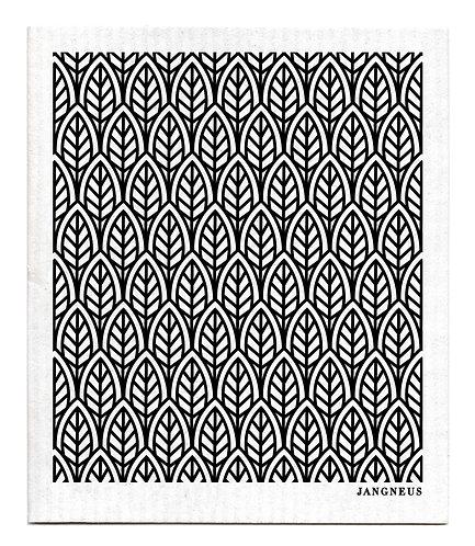 Black Leaves Compostable Dishcloth - Jangneus